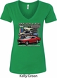Ladies Ford Classic Mustangs Untamed V-Neck