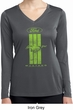 Ladies Ford Green Mustang Stripe Dry Wicking Long Sleeve