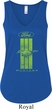 Ladies Ford Green Mustang Stripe Flowy V-neck Tank Top