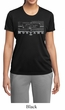 Ladies Ford Mustang Shirt Honeycomb Grille Moisture Wicking Tee