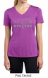 Ladies Ford Mustang Shirt Honeycomb Grille Moisture Wicking V-neck Tee