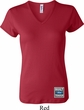 Ladies Ford Shirt Built Ford Tough Bottom Print V-neck Tee T-Shirt
