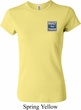 Ladies Ford Shirt Built Ford Tough Pocket Print Crewneck Tee T-Shirt