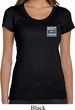 Ladies Ford Shirt Built Ford Tough Pocket Print Scoop Neck Tee T-Shirt