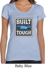 Ladies Ford Shirt Built Ford Tough Scoop Neck Tee T-Shirt