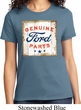Ladies Ford Shirt Distressed Genuine Ford Parts Tee T-Shirt