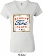 Ladies Ford Shirt Distressed Genuine Ford Parts V-neck Tee T-Shirt