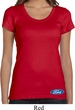 Ladies Ford Shirt Ford Oval Bottom Print Scoop Neck Tee T-Shirt