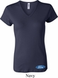 Ladies Ford Shirt Ford Oval Bottom Print V-neck Tee T-Shirt