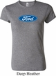 Ladies Ford Shirt Ford Oval Crewneck Tee T-Shirt