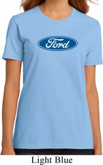 Ladies Ford Shirt Ford Oval Organic Tee T-Shirt