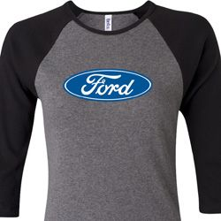 Ladies Ford Shirt Ford Oval Raglan Tee T-Shirt