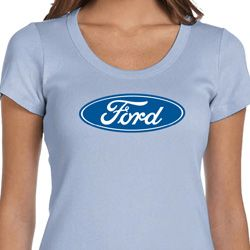 Ladies Ford Shirt Ford Oval Scoop Neck Tee T-Shirt