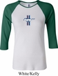 Ladies Ford Shirt Legend Lives Crest Small Print Raglan Tee T-Shirt