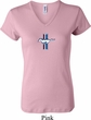 Ladies Ford Shirt Legend Lives Crest Small Print V-neck Tee T-Shirt