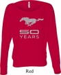 Ladies Ford Shirt Mustang 50 Years Off Shoulder Tee T-Shirt