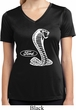 Ladies Ford Shirt Mustang Cobra Moisture Wicking V-neck Shirt