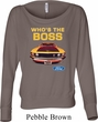 Ladies Ford Shirt Mustang Who's The Boss Off Shoulder Shirt
