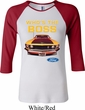 Ladies Ford Shirt Mustang Who's The Boss Raglan Shirt