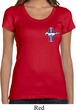 Ladies Ford Shirt The Legend Lives Crest Scoop Neck Tee T-Shirt