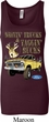 Ladies Ford Tanktop Driving and Tagging Bucks Longer Length Tank Top