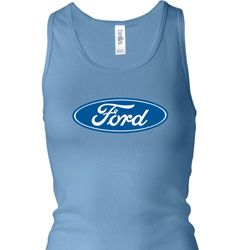 Ladies Ford Tanktop Ford Oval Longer Length Racerback Tank Top