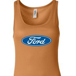 Ladies Ford Tanktop Ford Oval Longer Length Tank Top