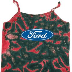 Ladies Ford Tanktop Ford Oval Tie Dye Camisole Tank Top