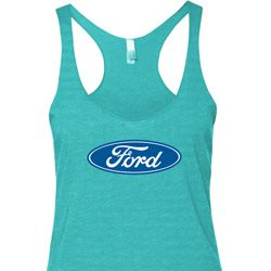 Ladies Ford Tanktop Ford Oval Tri Blend Racerback Tank Top