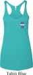 Ladies Ford Tanktop Legend Lives Crest Tri Blend Racerback Tank Top