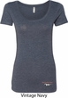 Ladies Ford Tee Mustang Bottom Print Scoop Neck