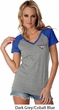 Ladies Ford Tee Mustang Pocket Print Contrast V-neck
