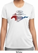 Ladies Ford Tee Mustang Red White and Blue Dry Wicking T-shirt