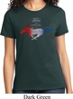 Ladies Ford Tee Mustang Red White and Blue T-shirt