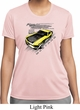 Ladies Ford Vintage Yellow Mustang Boss Moisture Wicking Shirt