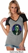 Ladies Frankenstein Tee Frankie Boy Contrast V-neck
