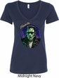 Ladies Frankenstein Tee Frankie Boy V-neck Shirt