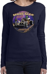 Ladies Frankenstein Tee Frankie's Speed Shop Long Sleeve