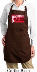 Ladies Funny Apron Dropped On My Head Full Length Apron with Pockets