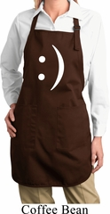Ladies Funny Apron Smiley Chat Face Full Length Apron with Pockets