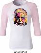 Ladies Funny Shirt Albert Einstein Raglan Tee T-Shirt