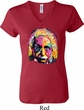Ladies Funny Shirt Albert Einstein V-neck Tee T-Shirt