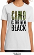 Ladies Funny Shirt Camo is the New Black Organic Tee T-Shirt