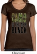 Ladies Funny Shirt Camo is the New Black Scoop Neck Tee T-Shirt