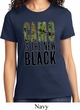 Ladies Funny Shirt Camo is the New Black Tee T-Shirt