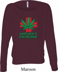 Ladies Funny Shirt Natures Medicine Off Shoulder Tee T-Shirt