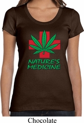 Ladies Funny Shirt Natures Medicine Scoop Neck Tee T-Shirt