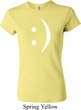 Ladies Funny Shirt Smiley Chat Face Crewneck Tee T-Shirt