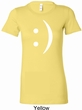 Ladies Funny Shirt Smiley Chat Face Longer Length Tee T-Shirt