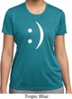 Ladies Funny Shirt Smiley Chat Face Moisture Wicking Tee T-Shirt